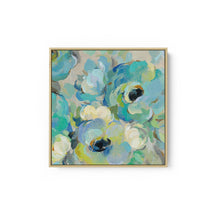 Load image into Gallery viewer, Fresh Teal Flowers III - SILVIA VASSILEVA