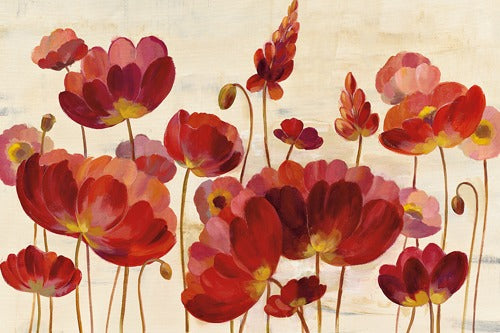 Red Flowers on Cream - SILVIA VASSILEVA