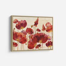 Load image into Gallery viewer, Red Flowers on Cream - SILVIA VASSILEVA