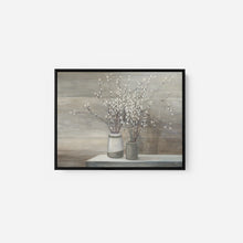 Load image into Gallery viewer, Pussy Willow Still Life Gray Pots - JULIA PURINTON