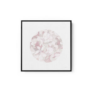 Leafy Abstract Circle I Blush Gray - DANHUI NAI