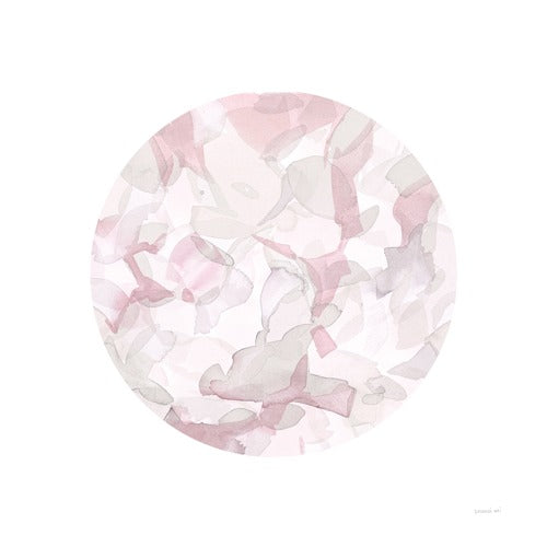 Leafy Abstract Circle II Blush Gray - DANHUI NAI