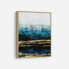Load image into Gallery viewer, Aqua Reflections with Gold - ALLIE CORBIN