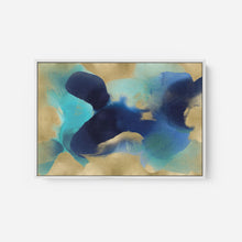Load image into Gallery viewer, Free Form Blue on Gold - HANNAH CARLSON