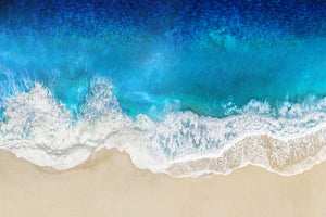 Aqua Ocean Waves From Above - MAGGIE OLSEN