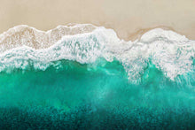 Load image into Gallery viewer, Teal Ocean Waves From Above I - MAGGIE OLSEN
