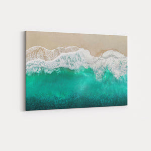 Teal Ocean Waves From Above I - MAGGIE OLSEN