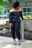Offshoulder Chic Button Blazer