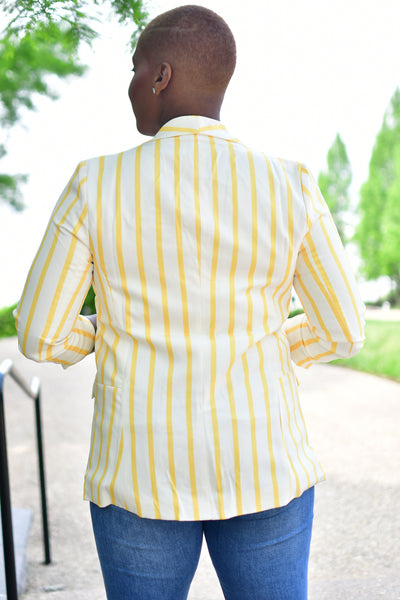 Yellow Striped Blazer