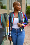 Multi-striped Melissa Jacket
