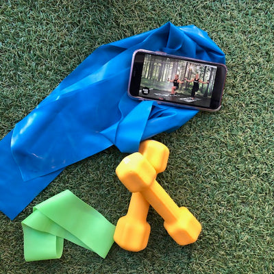 Online Home Workout Bundles - dumbbells, resistance band and booty band