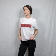 Load image into Gallery viewer, Aphrodite T-Shirt with knitting detail (second hand T-shirt) - telchines-fashion-ltd