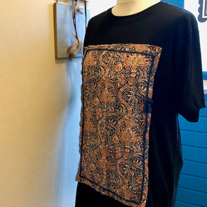 Irida T-shirt with knitting detail (second hand T-shirt) - telchines-fashion-ltd