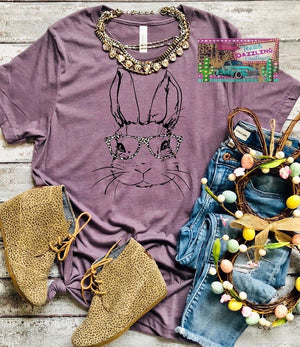 Leopard Bunny Glasses Tee
