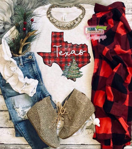 Texas Christmas Tree Tee