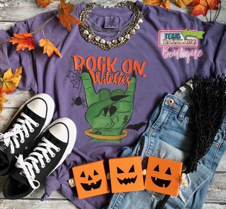 Rock On Witches Tee