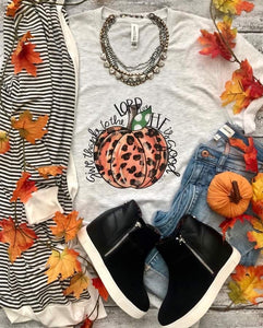 Give Thanks To The Lord Pumpkin Tee