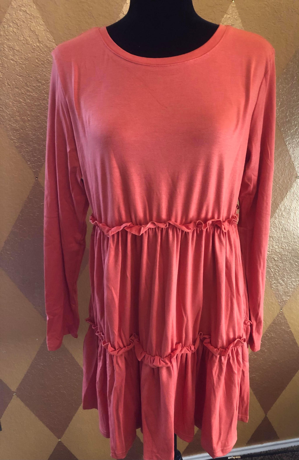 Loose Ruffle Dress (Size Large)