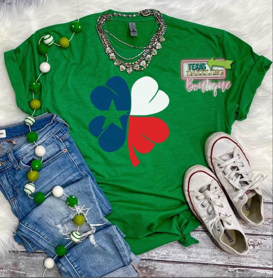 Texas Clover Flag Tee