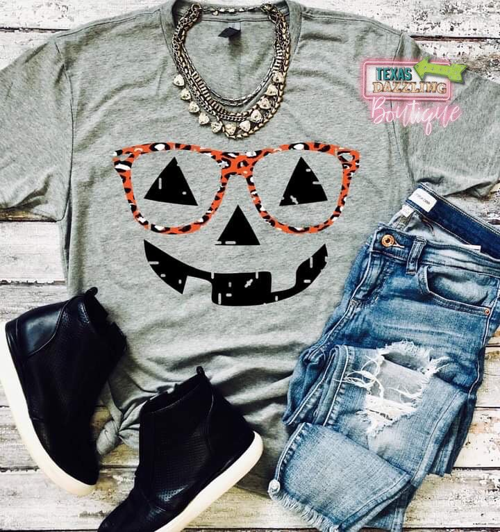 Pumpkin Glasses Tee
