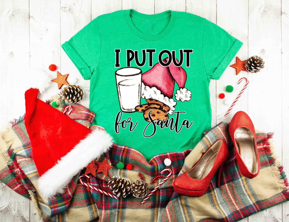 I Put Out For Santa Tee (Size Large)