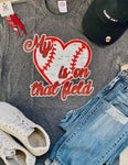 Me Heart Is On That Field Tee - Baseball (Delta)