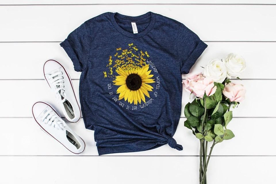 Whisper Words Of Wisdom Sunflower Tee