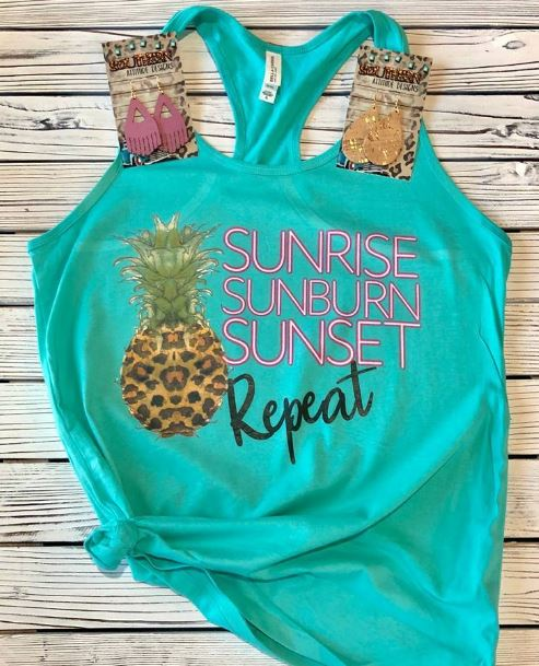 Sunrise~Sunburn~Sunset Tee