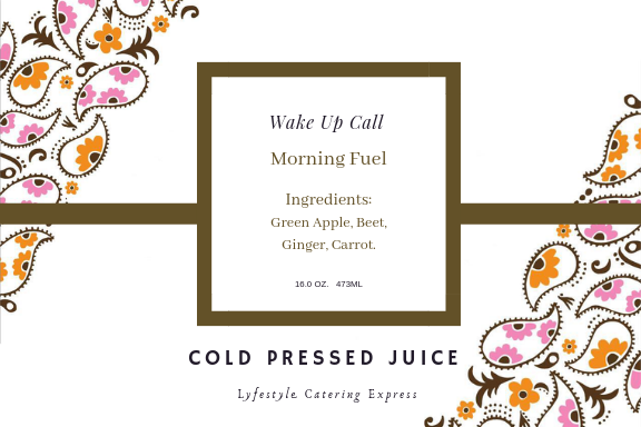 Cold Pressed Juices - Lyfestyle Catering