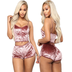 Mandy Velvet Lingerie Lounge Set