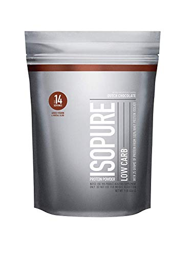 Isopure Low Carb Protein Powder, 100% Whey Protein Isolate