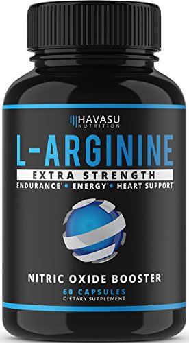 Extra Strength L Arginine - 1200mg Nitric Oxide Supplement for Muscle Growth
