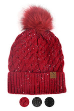 Load image into Gallery viewer, Speckled Pom Pom Beanie