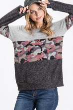 Load image into Gallery viewer, Camo Block Sweater
