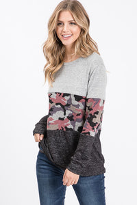 Camo Block Sweater