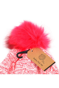Two Toned Pom Pom Beanie