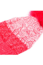 Load image into Gallery viewer, Two Toned Pom Pom Beanie