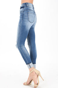 Kan Can Light wash distressed Jeans