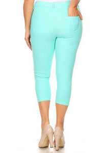 Plus Size Capri Jeggings