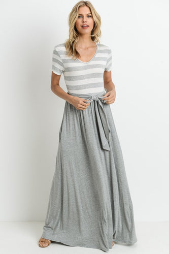 Stripe Banded Maxi Dress