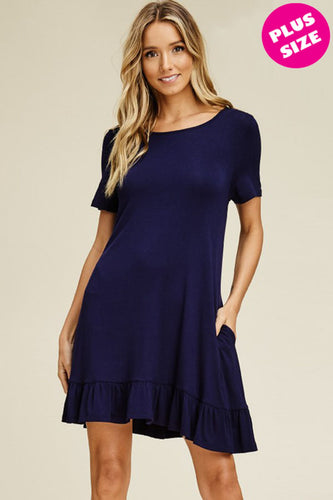 Plus Size Navy T-shirt Dress