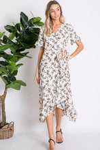 Load image into Gallery viewer, Boho Floral Wrap Dress
