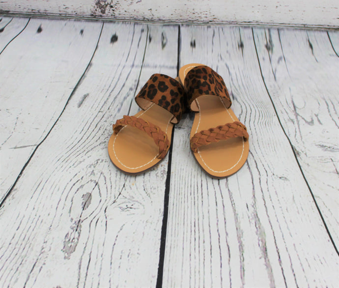 Leopard Print and Braided Sandal
