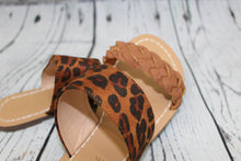 Load image into Gallery viewer, Leopard Print and Braided Sandal
