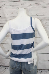Stripe Cami with Front Knot