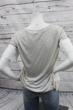 Load image into Gallery viewer, Stripe Tee with Eyelet Sleeve