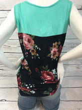Load image into Gallery viewer, Mint Floral Back Tank