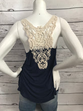 Load image into Gallery viewer, Wide Lace Back Tank Top
