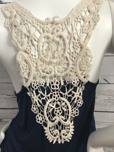 Wide Lace Back Tank Top