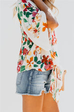 Load image into Gallery viewer, Floral V- Neck Blouse